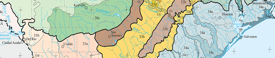 San-Antonio-Texas-Ecoregions Map